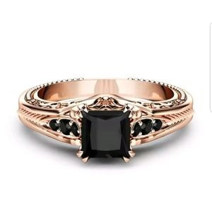 Gorgeous New S925 stamped black sapphire ring